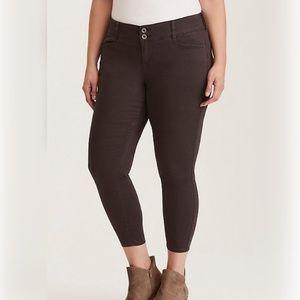 Torrid Twill Skinny Trouser Pant- Charcoal Grey